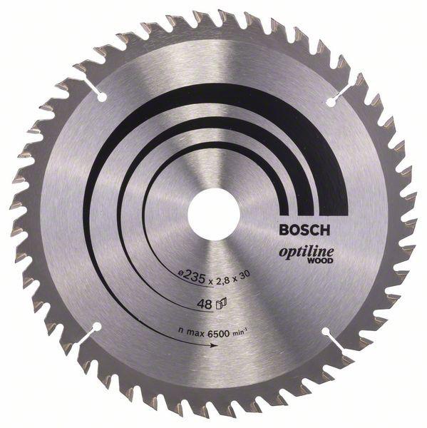 Kreissägeblatt Optiline Wood für Handkreissägen, 235 x 30/25 x 2,8 mm, 48