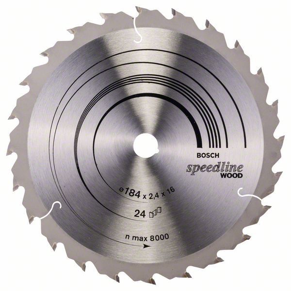 Kreissägeblatt Speedline Wood, 184 x 16 x 2,4 mm, 24