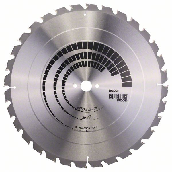 Kreissägeblatt Construct Wood, 450 x 30 x 3,8 mm, 32