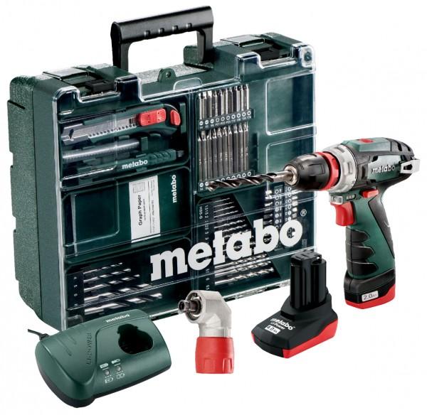 10,8-Volt-Akku-Bohrschrauber PowerMaxx BS Quick Pro Set Mobile Werkstatt metabo