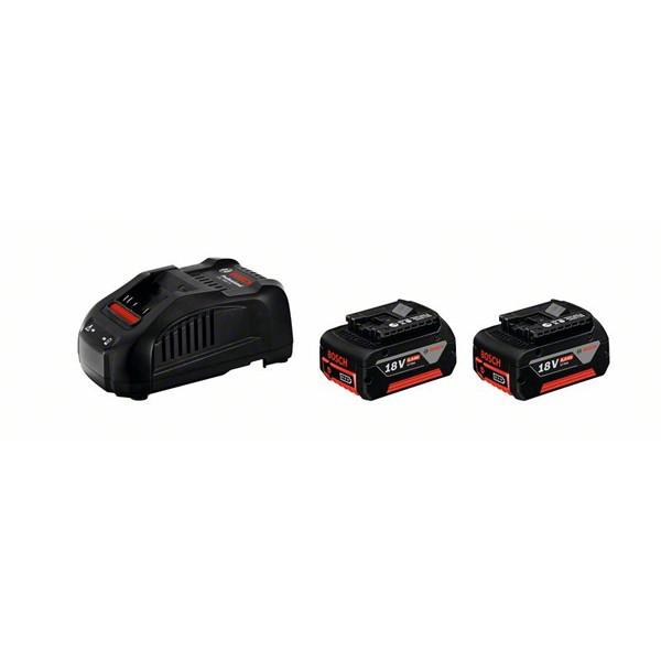 Akku Starter-Set: 2 x GBA 18 Volt, 6,0 Ah und GAL 1880 CV
