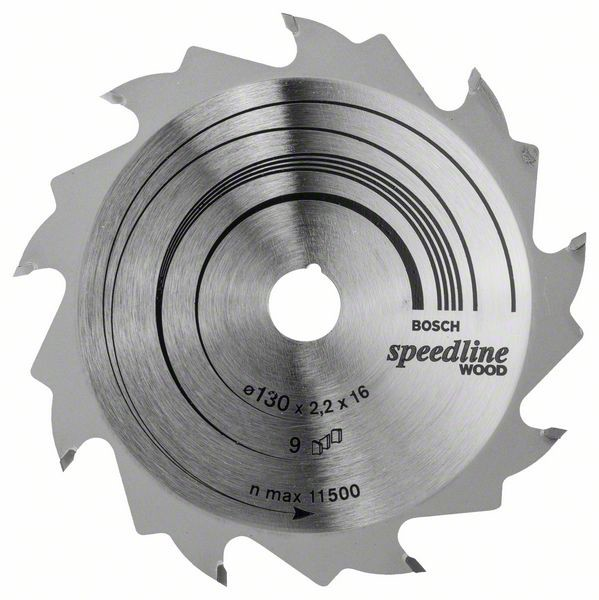 Kreissägeblatt Speedline Wood, 130 x 16 x 2,2 mm, 9