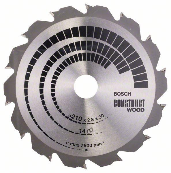 Kreissägeblatt Construct Wood, 210 x 30 x 2,8 mm, 14