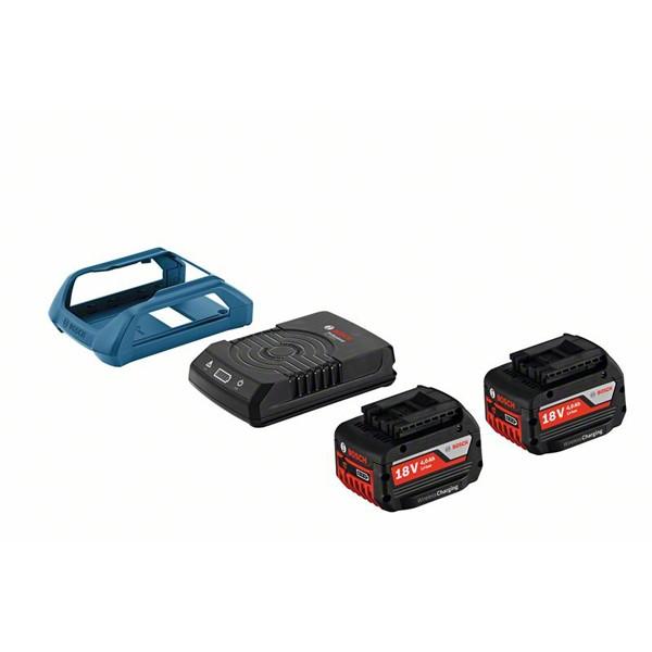 Akku Starter-Set: 2 x GBA 18 Volt, 4,0 Ah W und GAL 1830 W Wireless Charging