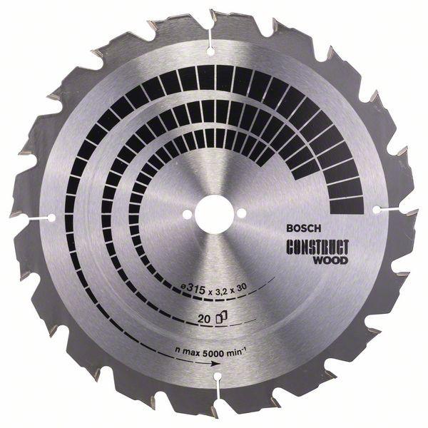 Kreissägeblatt Construct Wood, 315 x 30 x 3,2 mm, 20