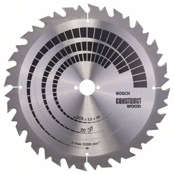 Kreissägeblatt Construct Wood, 315 x 30 x 3,2 mm, 20, SB2