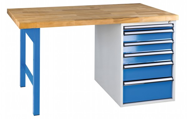 Werkbank mit Schubladenbox 2000 mm METEC