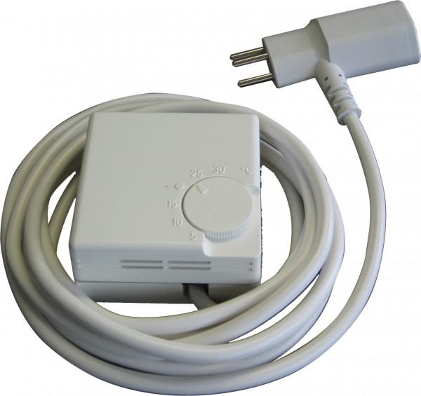 Steckdosen-Thermostat für elektrische Heizgeräte und Oelheizgeräten