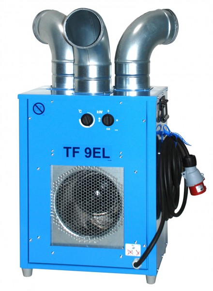"""Heizsystem TF 9EL """"EL BJÖRN"""", 9.0kW, 400Volt 13A, 1'250 m3/h Allchemet"""