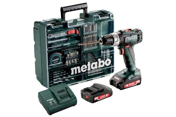 BS 18 L Set Akku-Bohrschrauber Metabo im Kunststoffkoffer