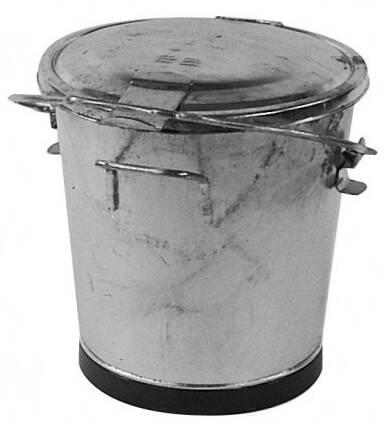 Kehrichteimer Sibir Stahlblech 35 Liter