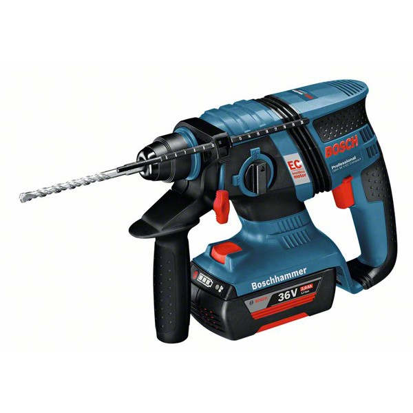 Bosch Akku-Bohrhammer mit SDS plus GBH 36 V-EC Compact, 2 x 2.0 Ah Li-Ion Akku, L-BOXX
