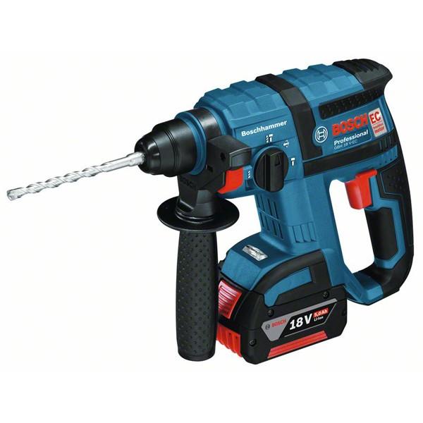 Bosch Akku-Bohrhammer mit SDS plus GBH 18 V-EC, mit 2 x 5.0 Ah Li-Ion Akku, L-BOXX