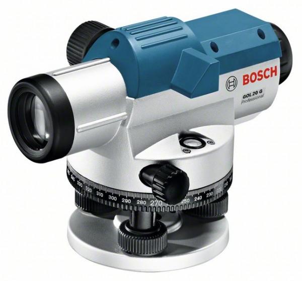 Bosch Optisches Nivelliergerät GOL 20 G, mit Baustativ BT 160, Messstab GR 500