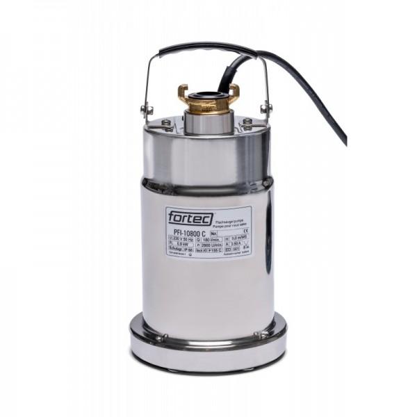 Flachsaugwasserpumpe fortec PFI-10800C