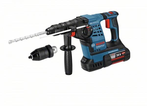 Bosch Akku-Bohrhammer mit SDS plus GBH 36 VF-LI Plus mit 2 x Akku GBA 36V 4.0Ah