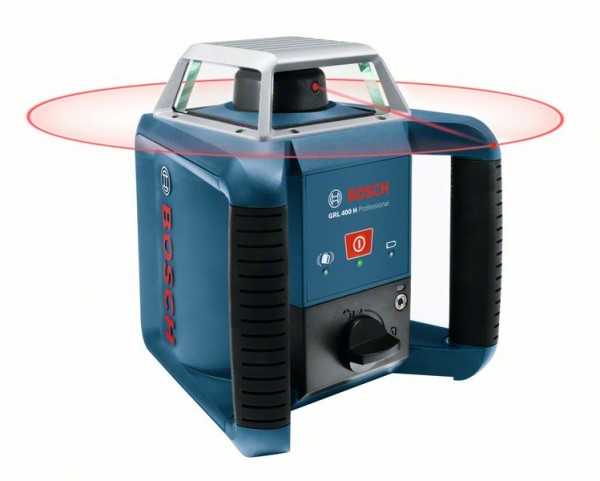 Bosch Rotationslaser GRL 400 H, mit Laserempfänger LR 1 und Transportkoffer
