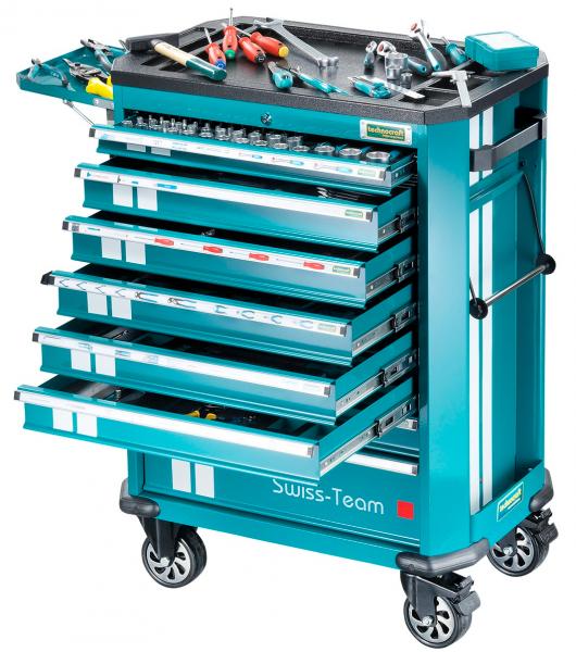 """Werkstattwagen technocraft Swiss Team 286"""" 286-teiliges Werkzeug-Set"""