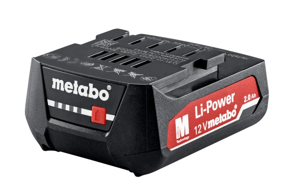 AKKUPACK 12 V, 2,0 AH, LI-POWER Metabo