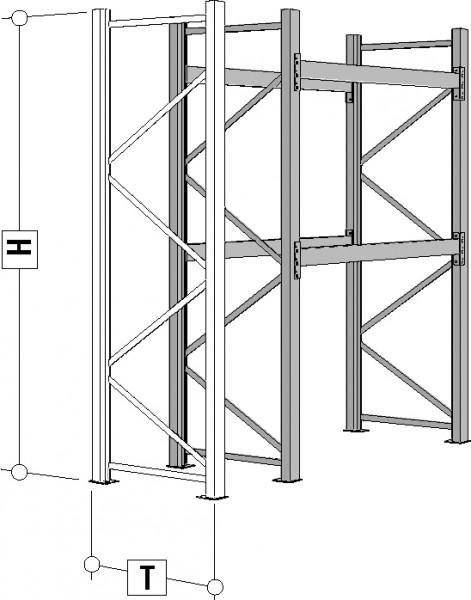 Palettenregale verzinkt Rahmen